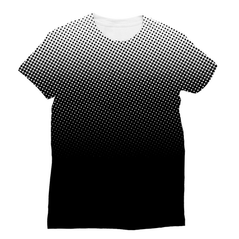 White dots Unisex Sublimation T-Shirt