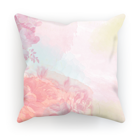Pink Spring Rose Pillow
