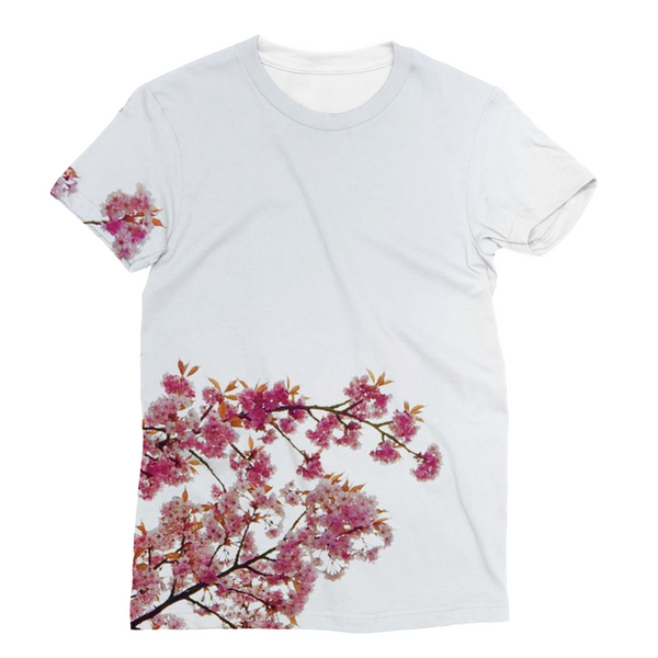 Pink Flowers Unisex Sublimation T-Shirt