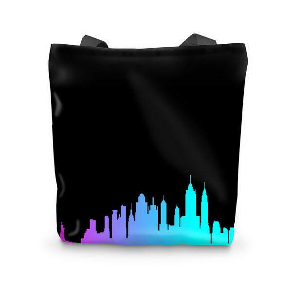 NYC Neon Skyline Tote Bag