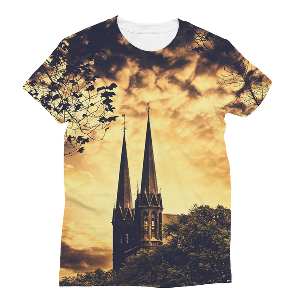 Gothic Church Unisex Sublimation T-Shirt