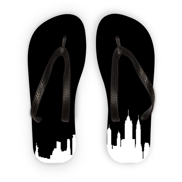 New York Skyline Flip Flops