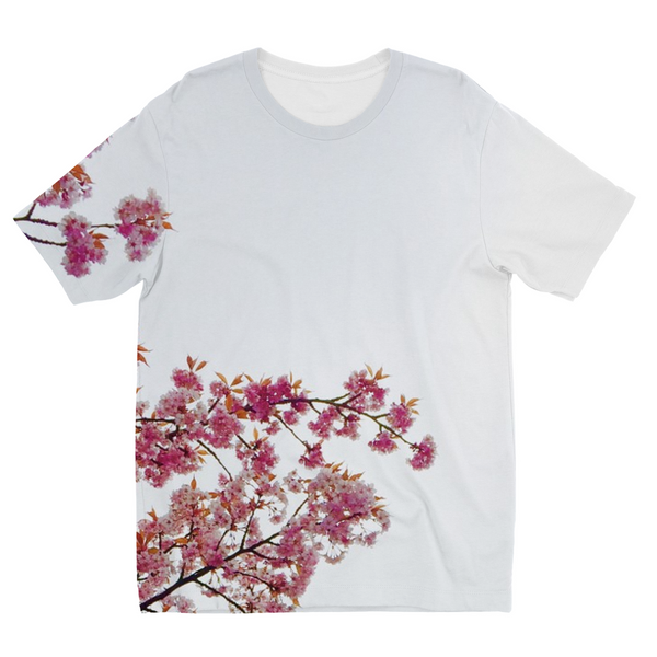 Pink Flowers Kids Sublimation T-Shirt