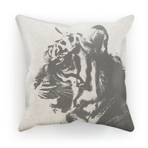 Grey Tiger Pillow