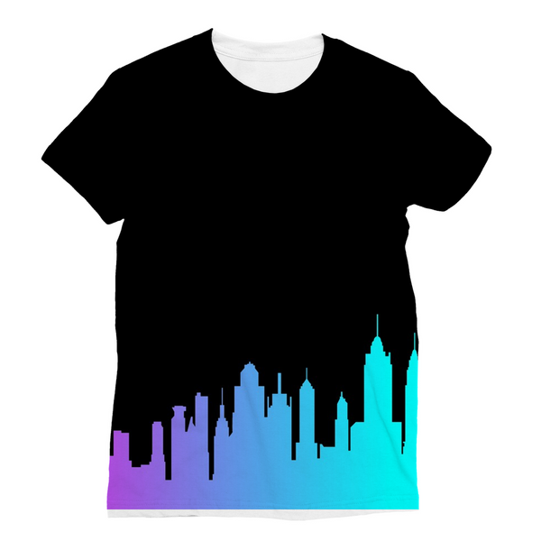 NYC Neon Skyline Unisex Sublimation T-Shirt