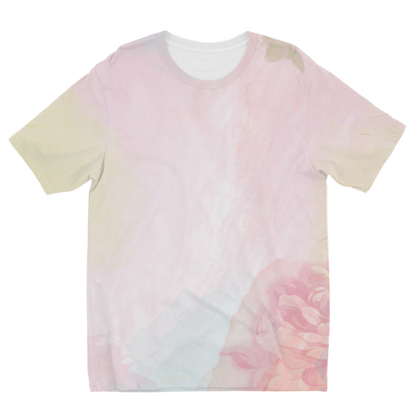 Pink Spring Rose Kids Sublimation T-Shirt
