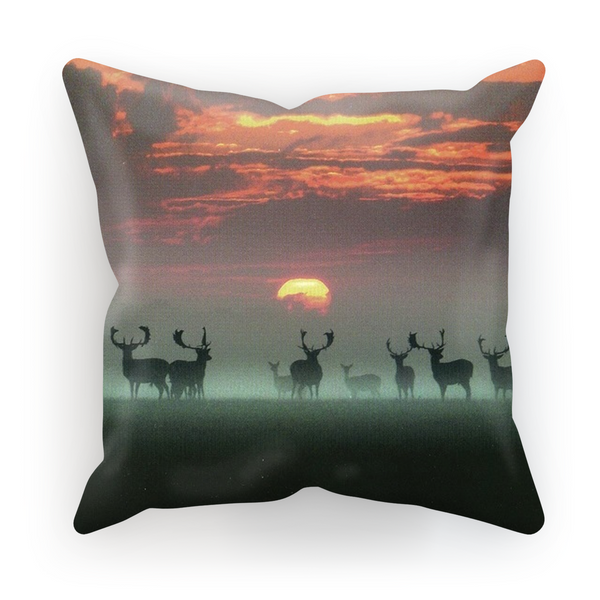 Sunset Deer Pillow