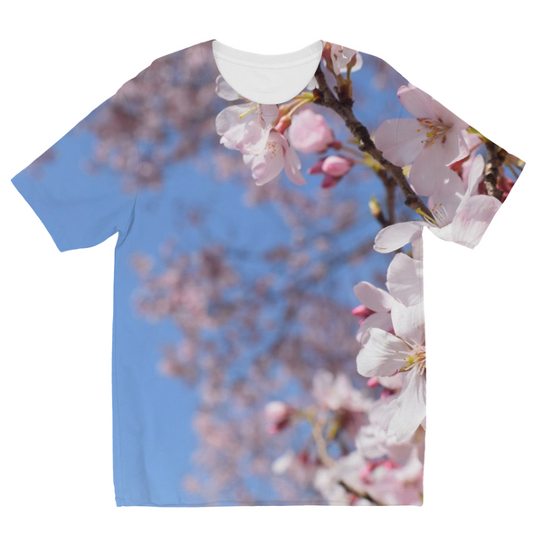 Cherry Flowers Kids Sublimation T-Shirt