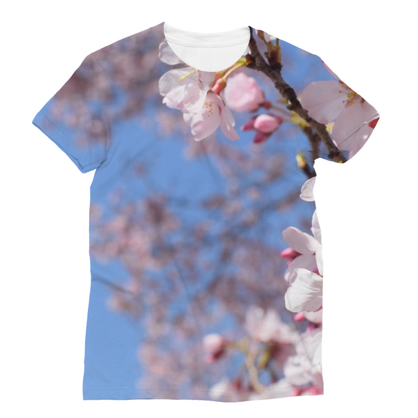 Cherry Flowers Unisex Sublimation T-Shirt