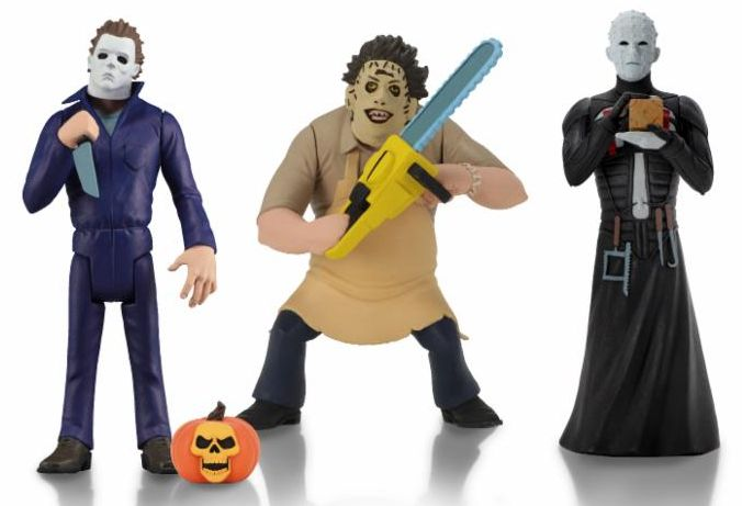 Toony Terrors Series 2 Michael Myers Leatherface and Pinhead Bundle