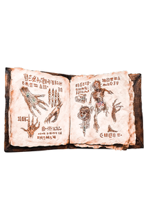 Evil Dead 2 Book Of The Dead Necronomicon Prop With Printed Pages