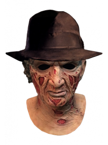 A Nightmare On Elm Street Deluxe Freddy Krueger Mask With Fedora Hat