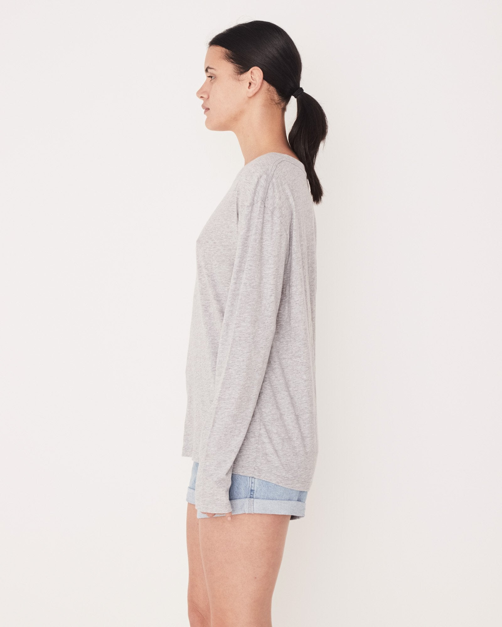 Bay Long Sleeve - Grey Marle