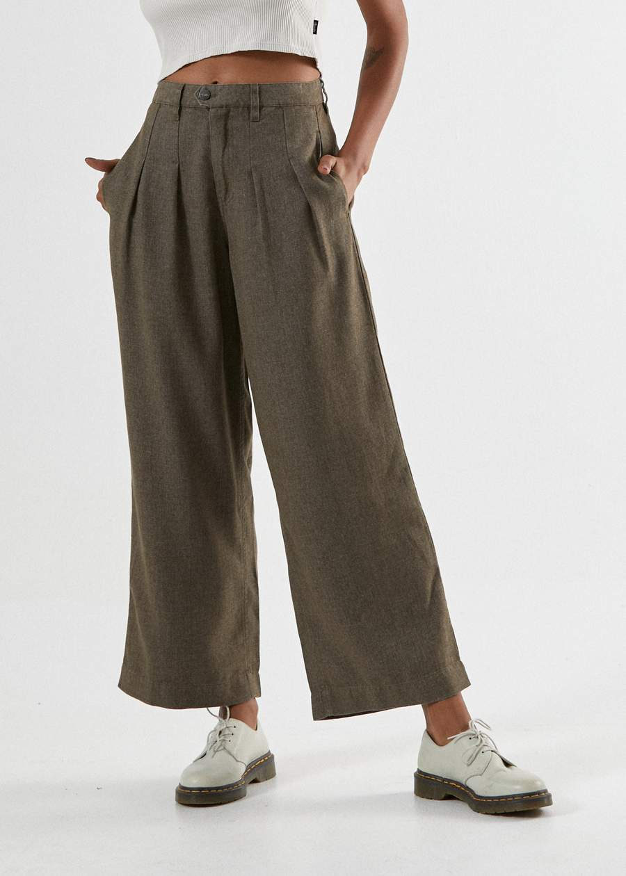 Darcy Hemp Pleated Pants - Silt