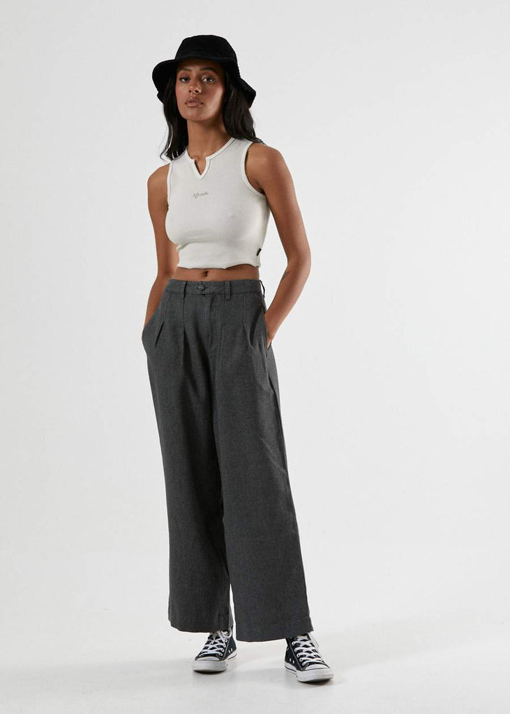 Darcy Hemp Pleated Pants - Raven