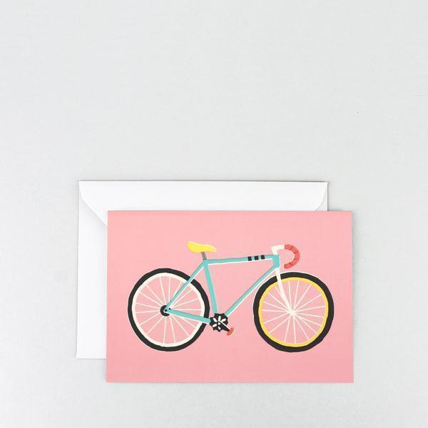 City Bike Greeting Card