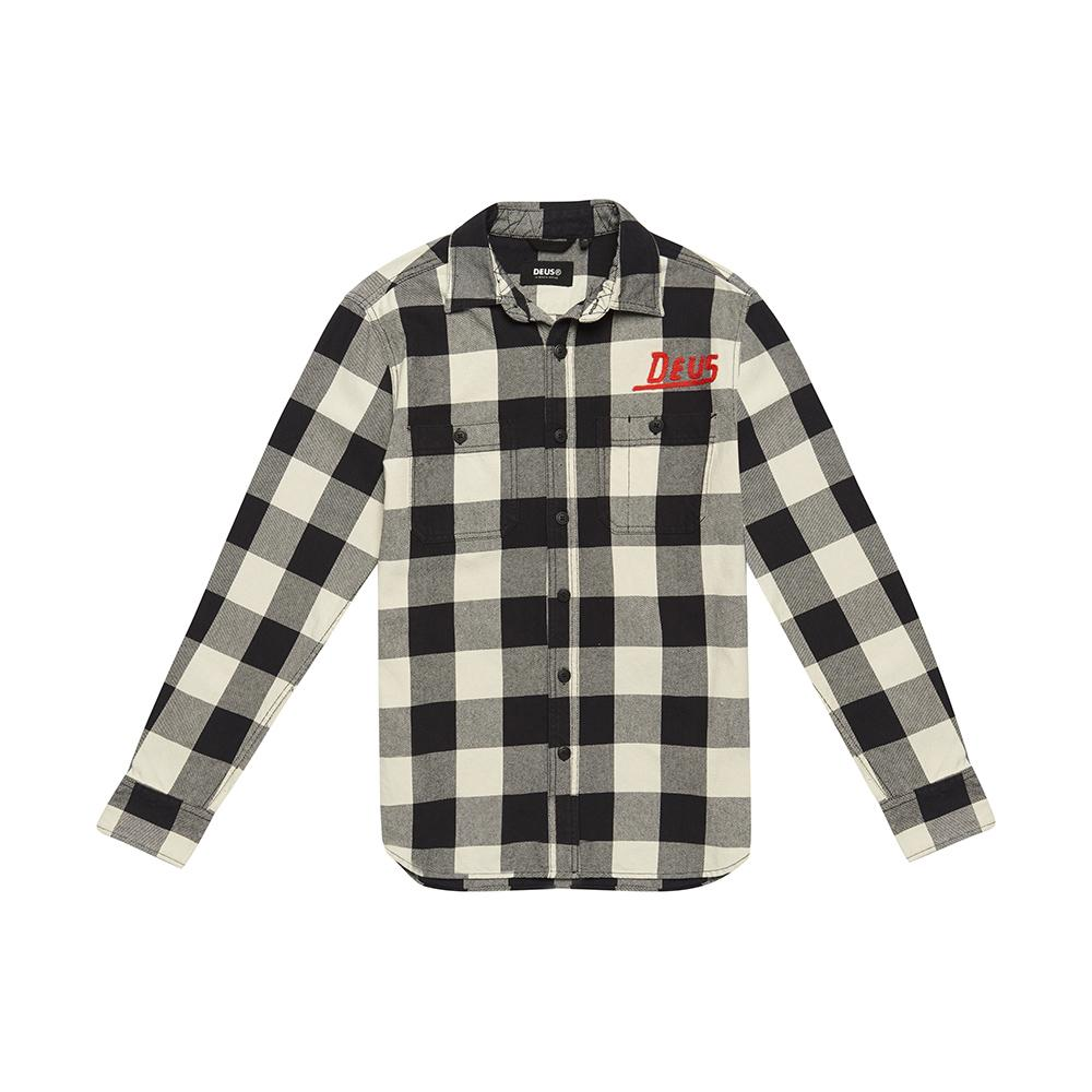 Service Check Shirt - Off White/Black