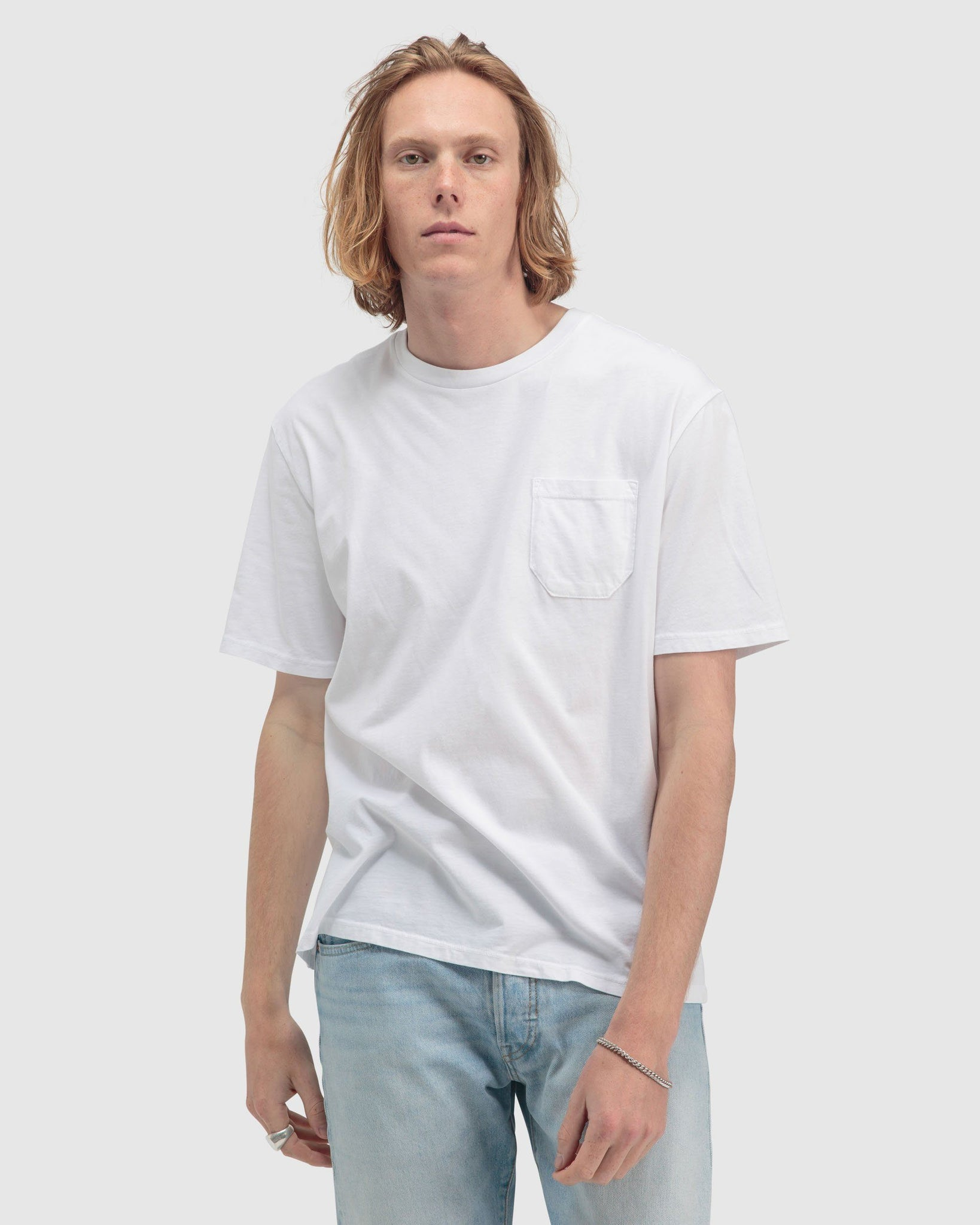 Men's Pocket Crew Tee - White