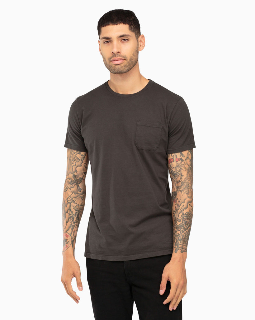 Men's Pocket Crew Tee - Charcoal