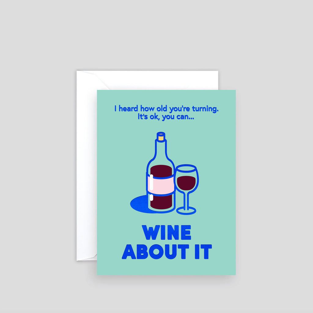 Wine About It Mini Foil Card