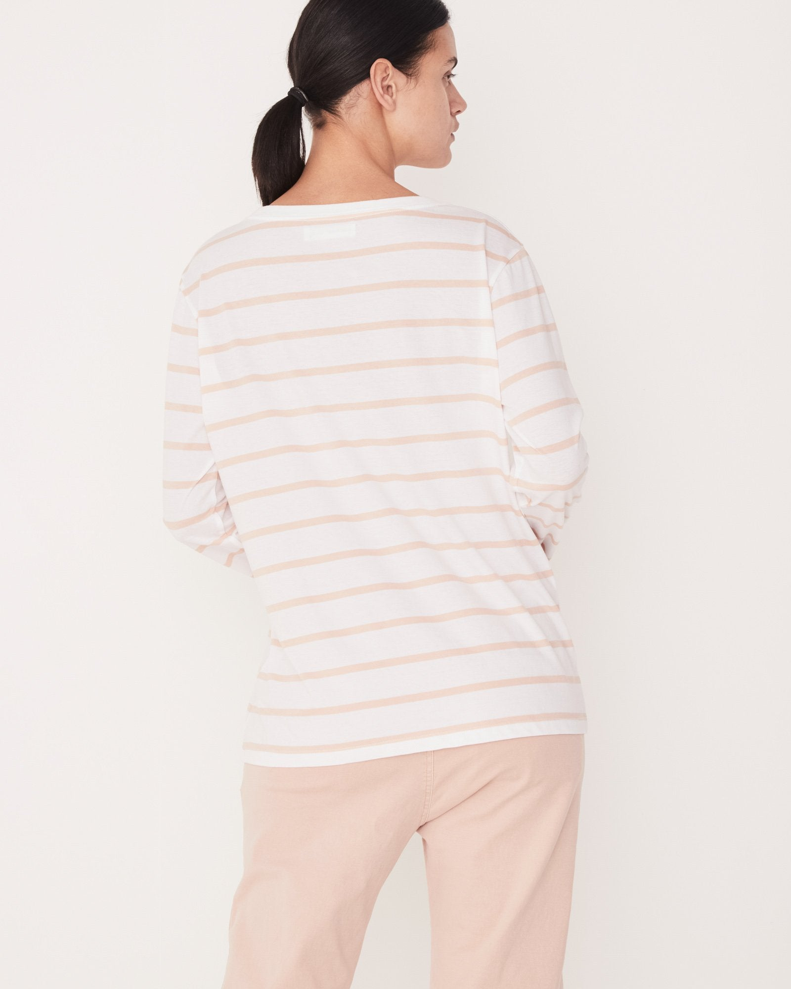 Bay Long Sleeve - Rosewater Stripe