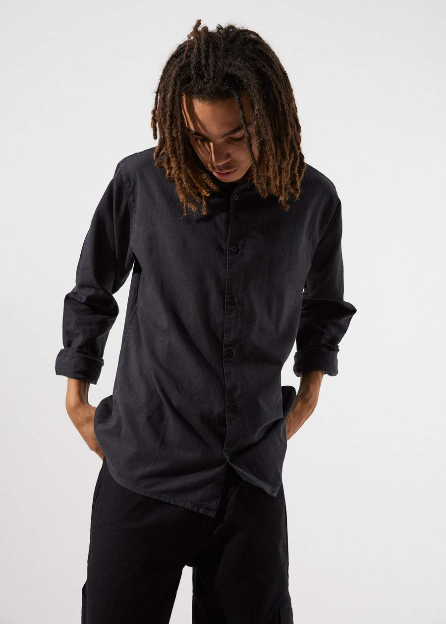 Everyday Hemp Long Sleeve Shirt - Black