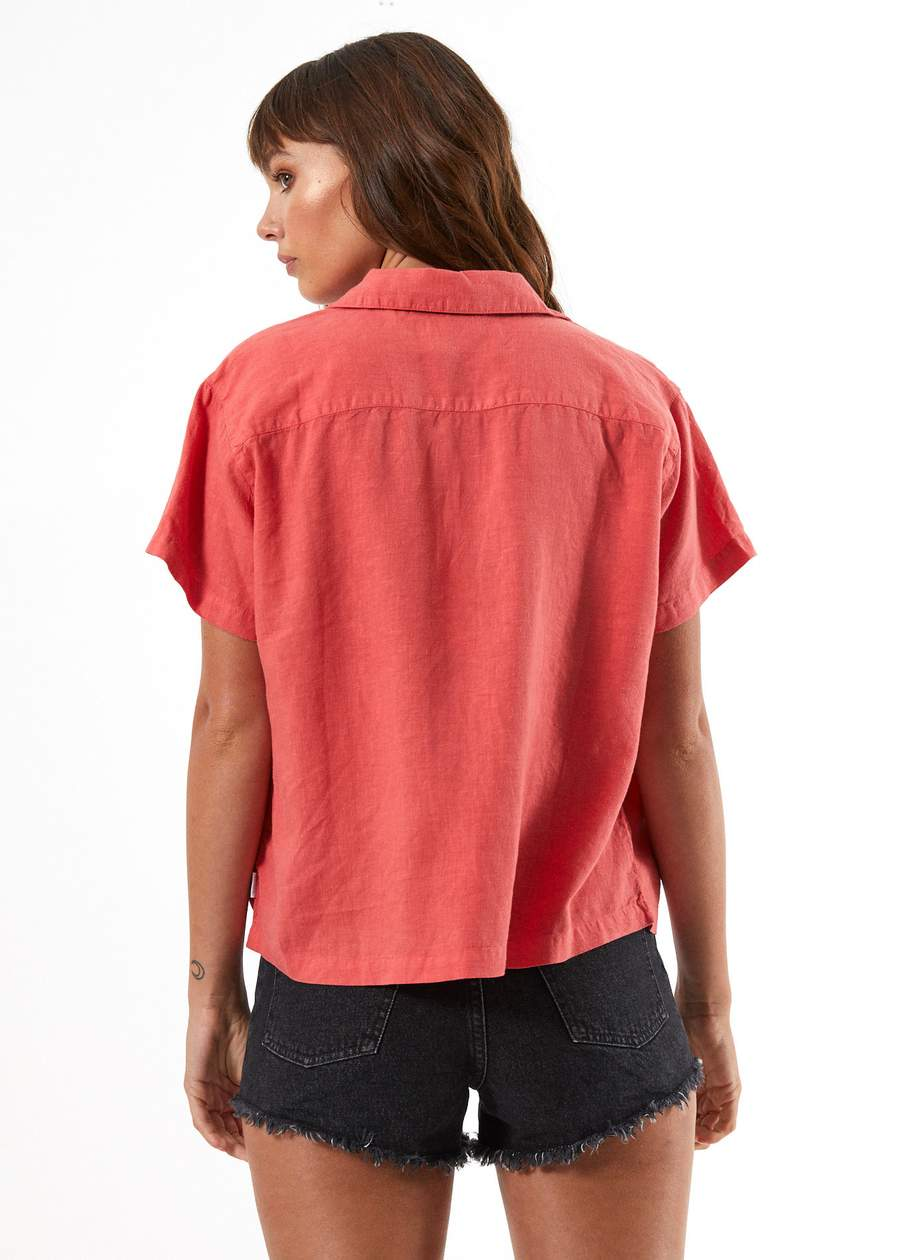 Mood Hemp Short Sleeve Shirt - Coral