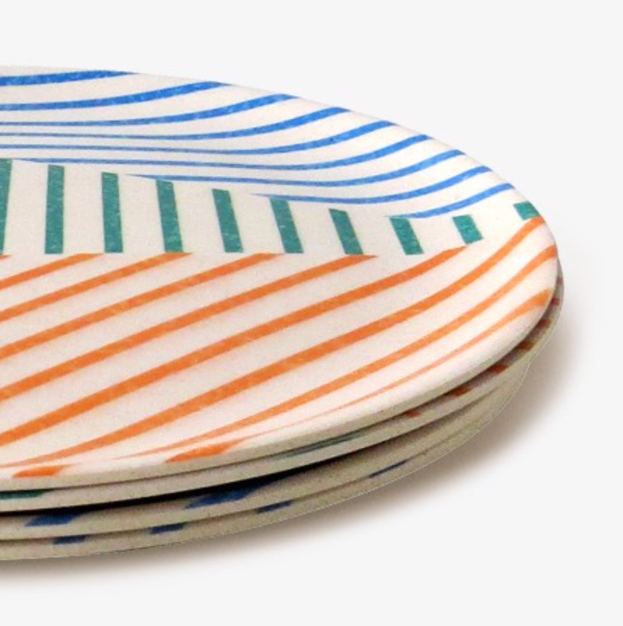 Marseille Bamboo Dinner Plates - 4 set