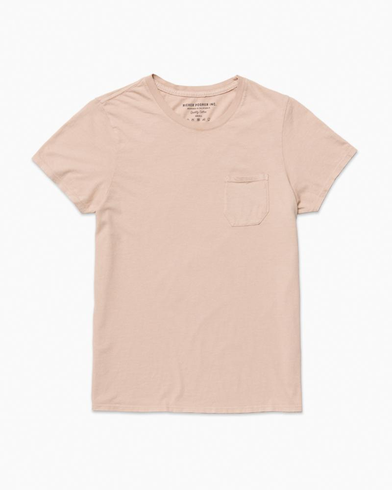 Women's Crew Pocket Tee - Blush