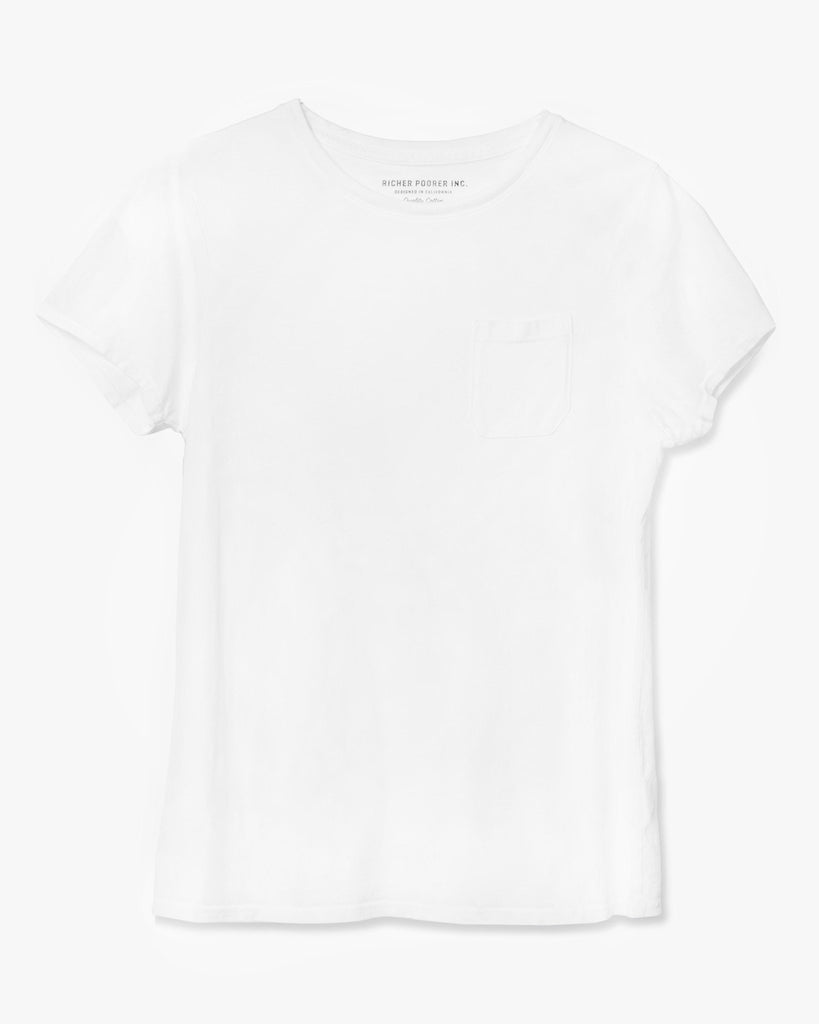 Women's Pocket Crew Tee - White