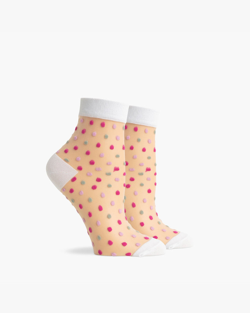 Women's Ankle Confetti Socks - Pink Multi