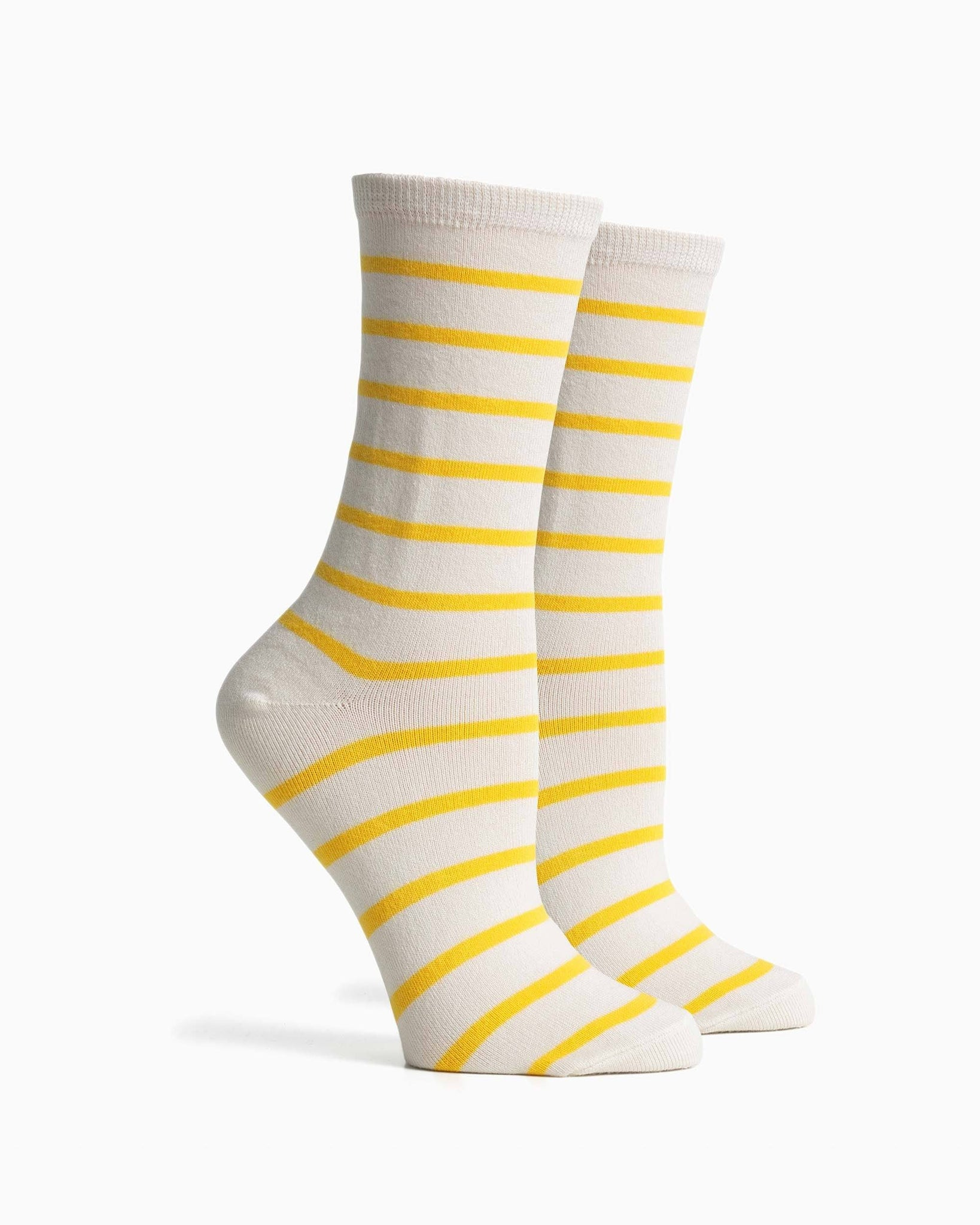 Women's Nora Socks - White Yellow