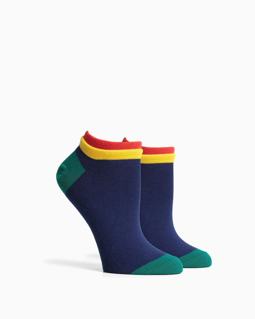 Women's Cassat Socks - Navy Red