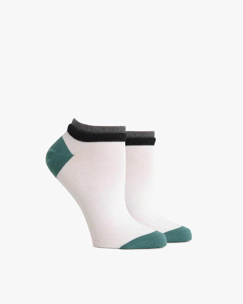 Women's Low Cut Cassat - White & Green