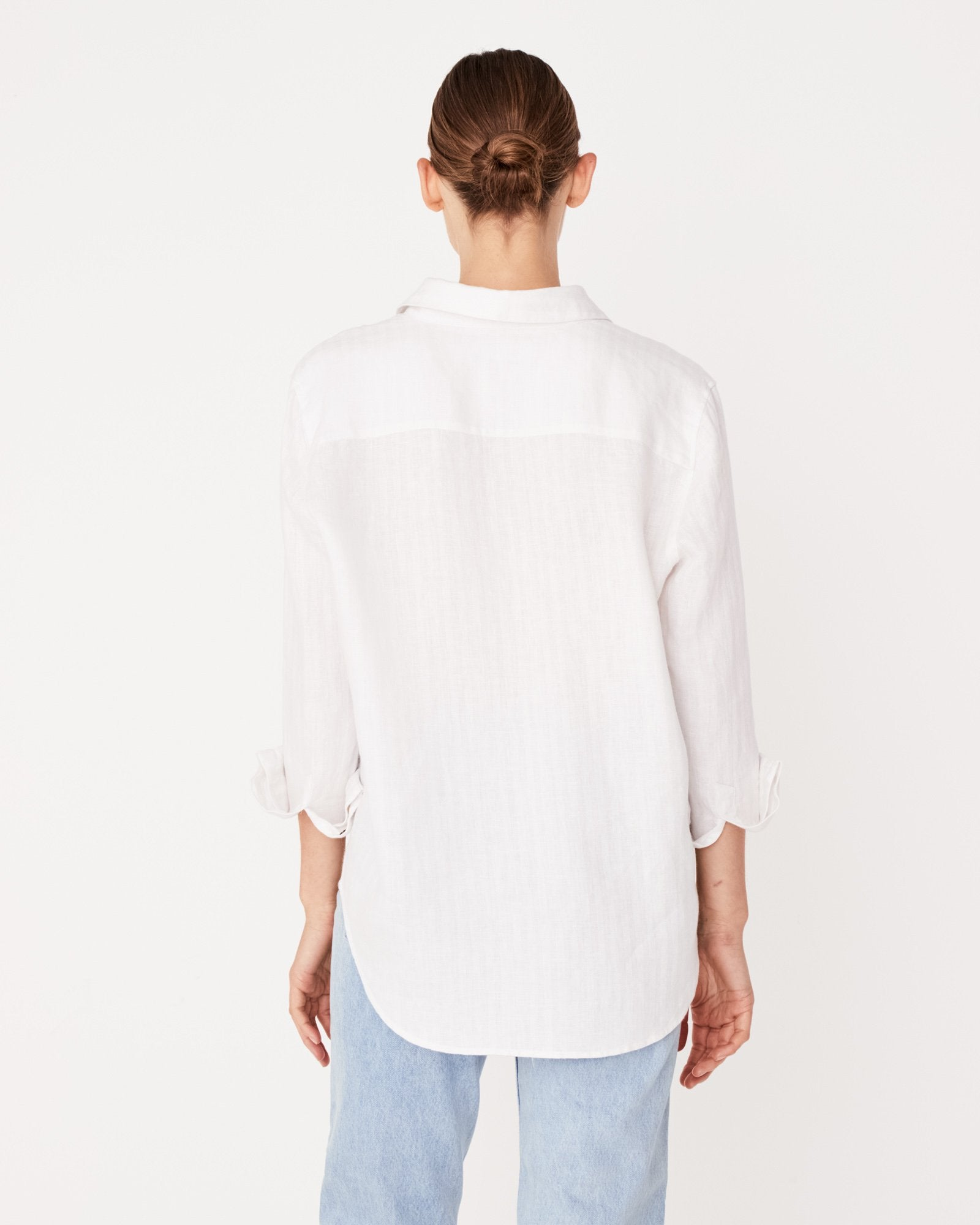 Xander Long Sleeve Linen Shirt - Birch Stripe