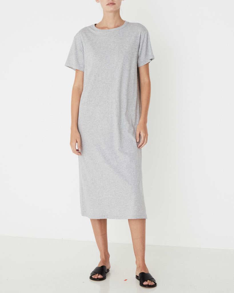 Essential Cotton Tee Dress - Grey