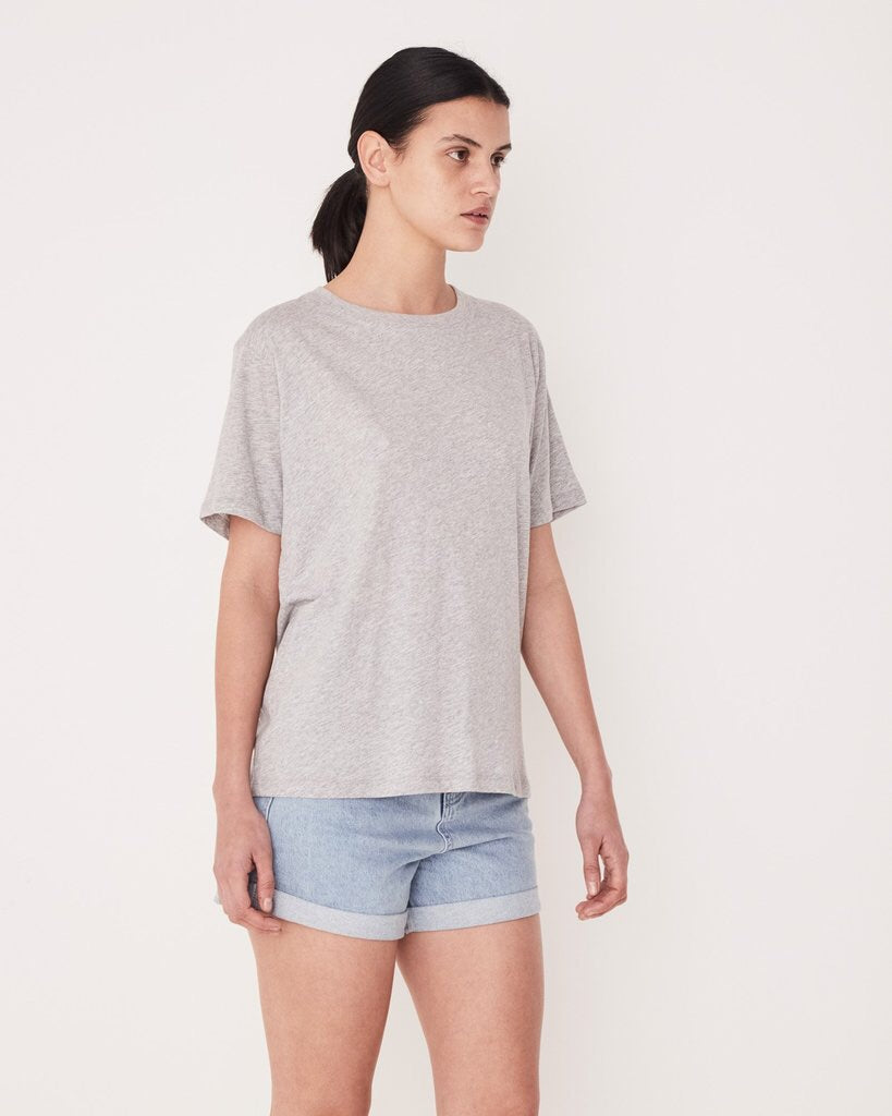 Essential Cotton Crew Tee - Grey Marle