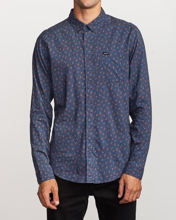 Prelude Floral Long Sleeve - Moody Blue