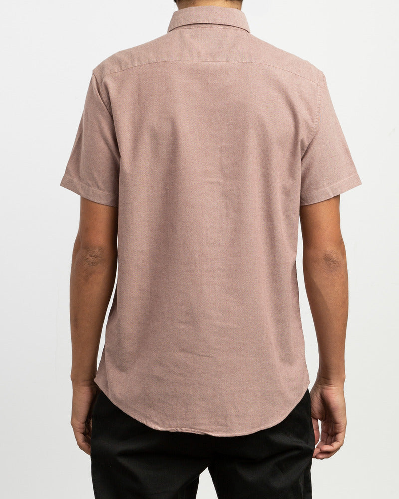 That'll Do Stretch Short Sleeve Shirt - Bordeaux
