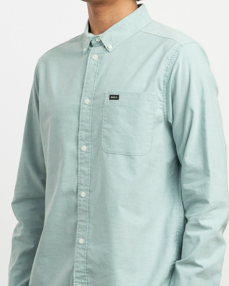 That'll Do Stretch Long Sleeve Shirt - Cascade Blue