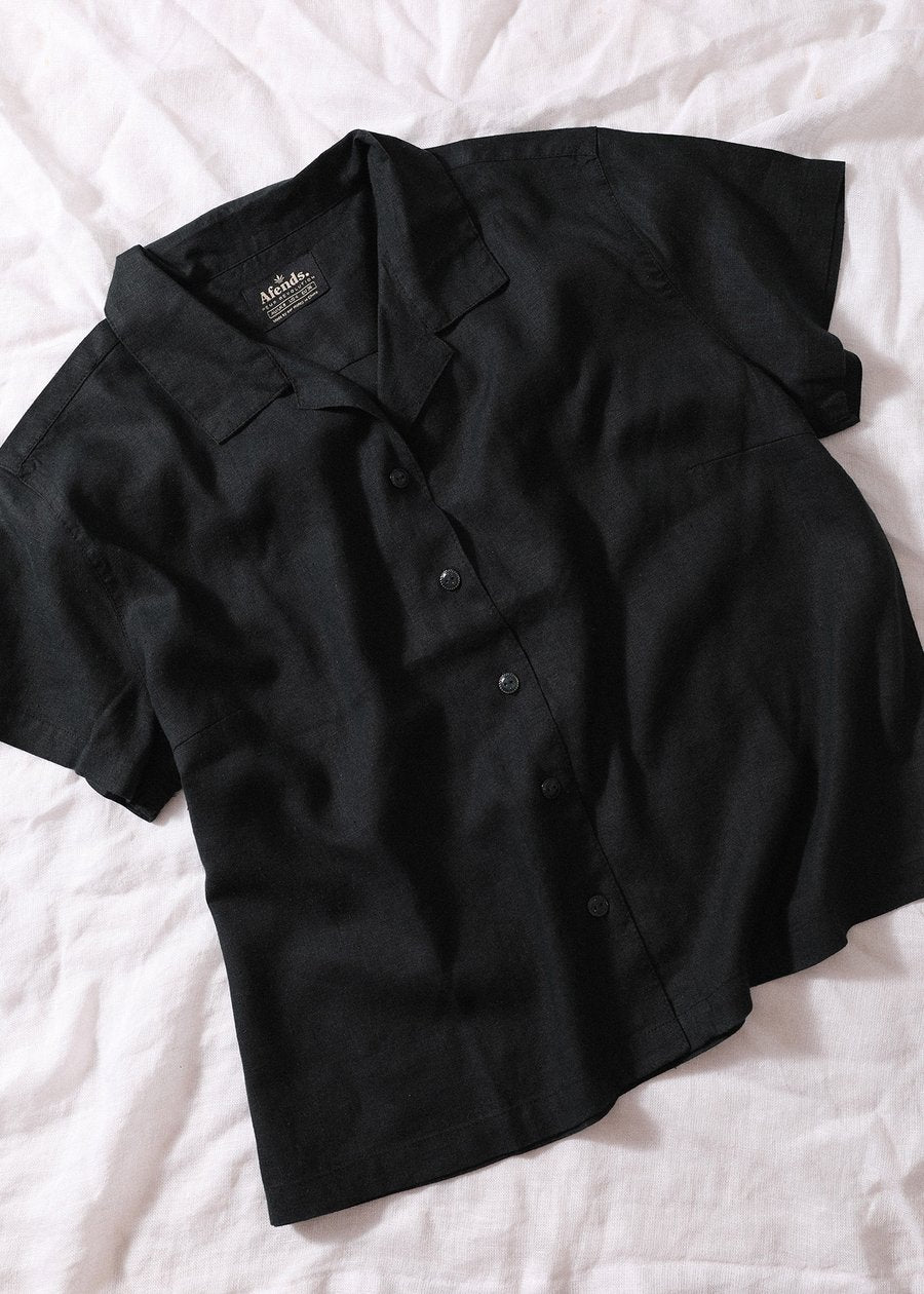 Mood Hemp Short Sleeve Shirt - Vintage Black