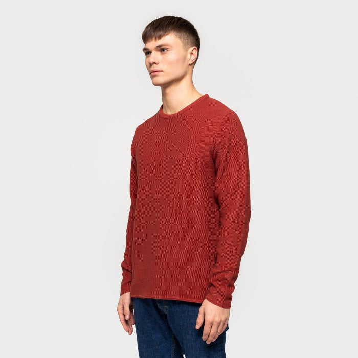 Organic Cotton Knitted Sweater - Red