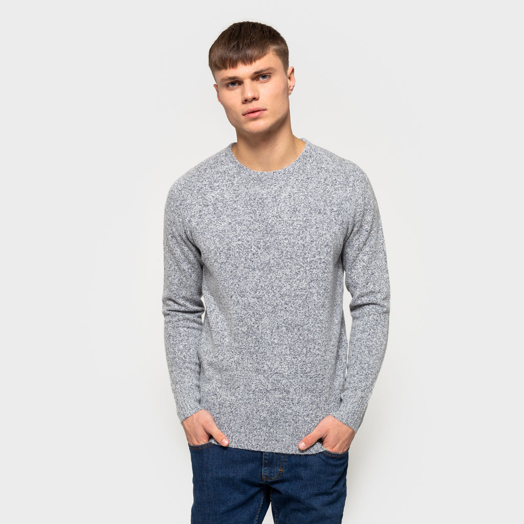Knitted Sweater - Grey/Navy