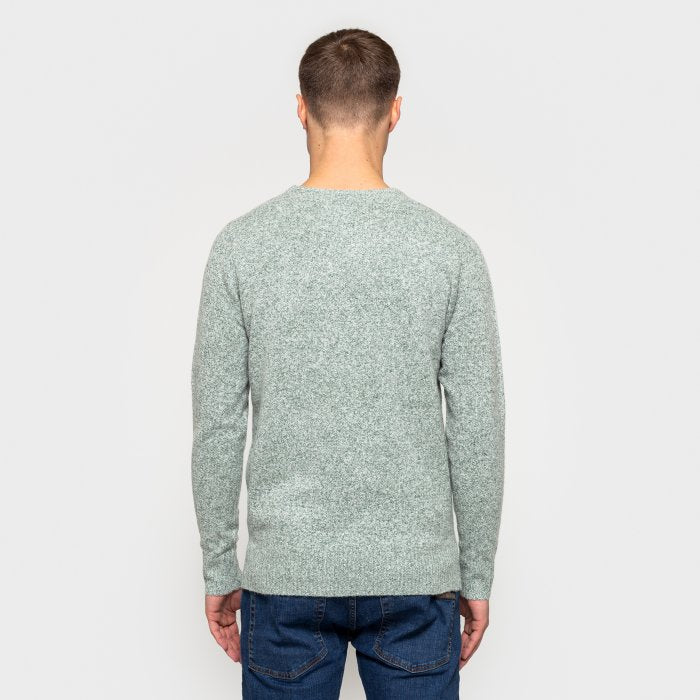 Knitted Sweater - Grey/Green