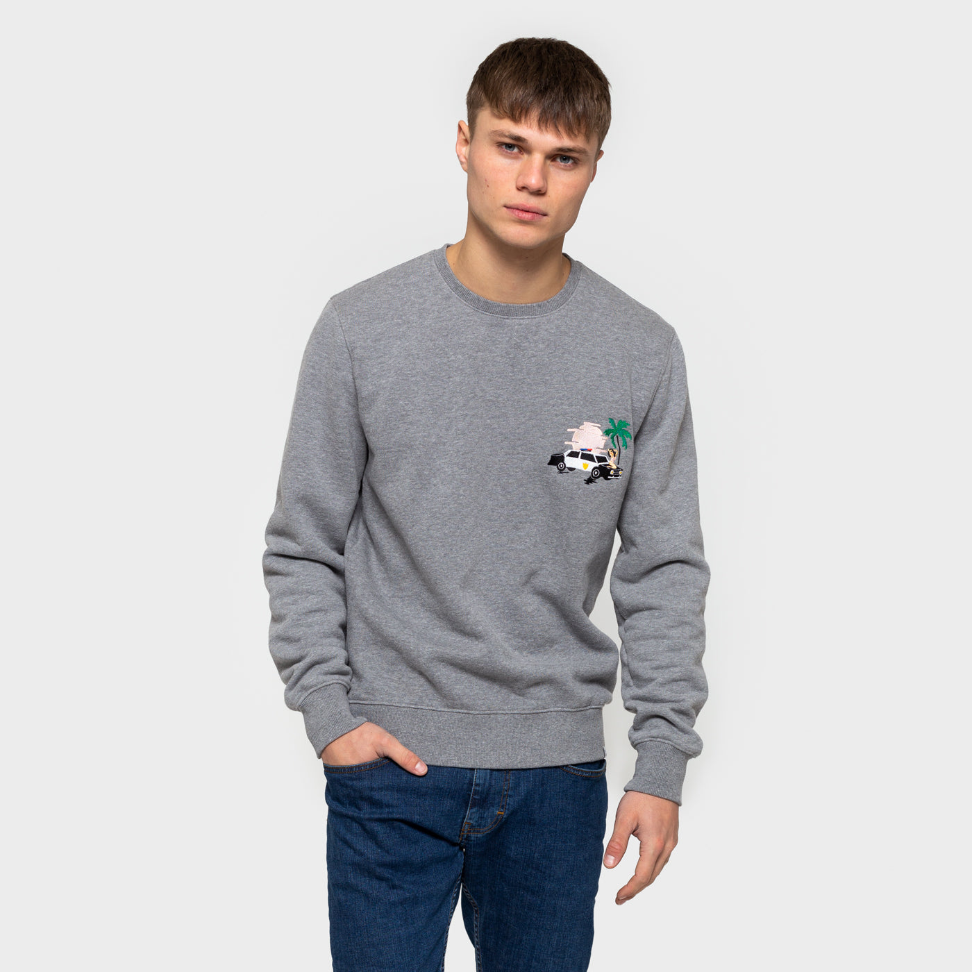 Embroidered Sweatshirt - Grey