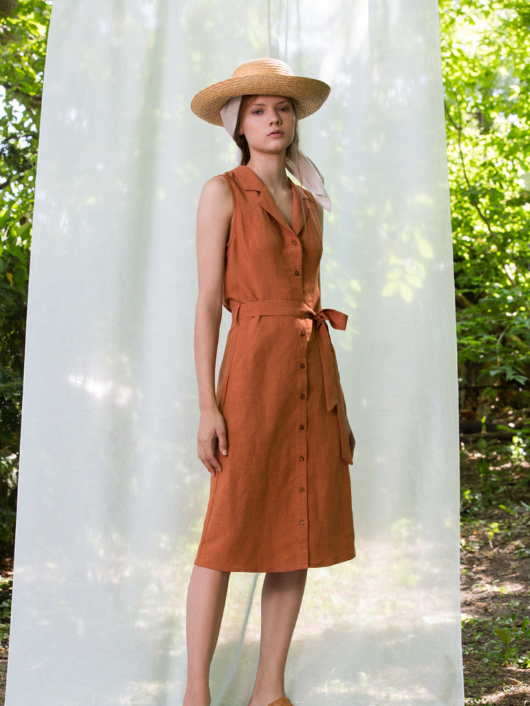 Sienne Dress - Terracotta