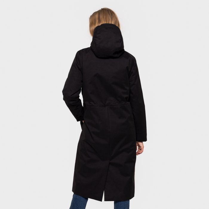 Long Parka Jacket - Black