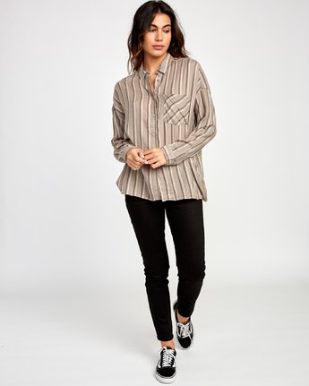 Hera Oversized Button Up Shirt - Fog