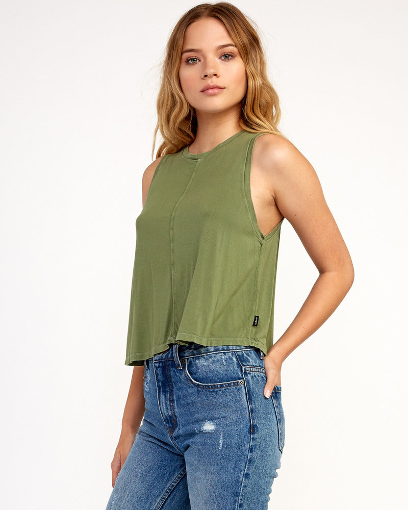 Happy Place Tank Top - Olive