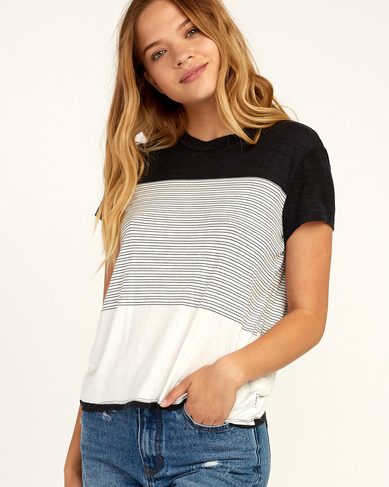 Recess Striped Knit Tee - Black